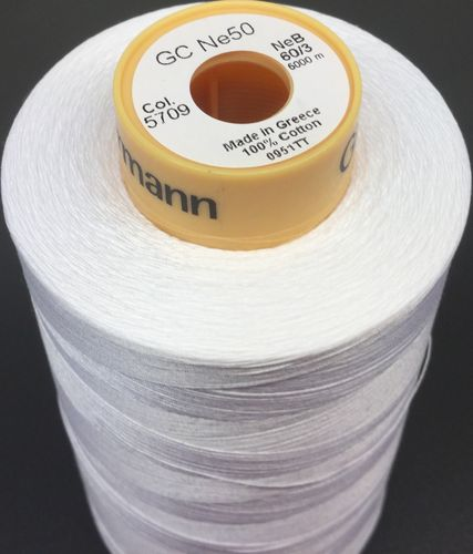 HILO ALGODON GUTERMANN COLOR BLANCO 60/3 5000m
